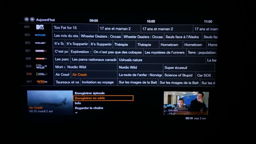 Guide TV Orange Belgique